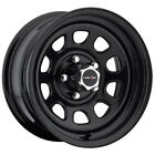 4 Vision 84 D Window 16x8 5x45 +0mm Gloss Black Wheels Rims 16 Inch