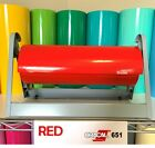 Oracal 651 Red Glossy Vinyl Rolls with Permanent Adhesive different lenghts