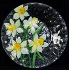 Fused Art Glass Plate ANN C ROSS Cape Cod DAFFODILS Signed NEW