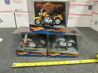 3 Hot Wheels HARLEY DAVIDSON Fat Boy Softail Deuce Heritage Softail Classic Lot