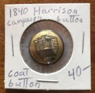 Authentic Antique 1840 President William Henry Harrison Log Cabin Coat Button