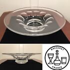 Signed BACCARAT Heavy Large 135 Crystal Glass Footed Centerpiece Console Bowl