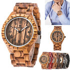 Trendy Gift for Men Mens Wood Watch All Solid UWOOD Wooden Watches New