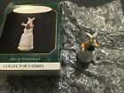 Hallmark 1997 Alice in Wonderland White Rabbit Thimble Miniature Ornament