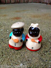 SOOO Cute Aunt Jemima  Uncle Joe Salt  Pepper shakers Black Americana Cork