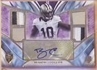 BRANDIN COOKS 2014 TOPPS SUPREME GOLD # 5 QUAD PATCH ROOKIE RC AUTO RAMS