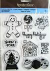 Christmas Gingerbread Holidays Clear Acrylic Stamp Set Recollections 146642 NEW