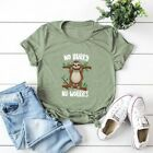Womens Funny Sloth T shirt Cute Lazy Shirts Fashion Summer Top Plus Size Blouse