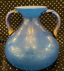 Vintage Fine Blue Gold Dust Venetian Murano Glass Vase
