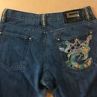 Vtg 90s COOGI 40x34 Jeans Embroidered Spellout Crown Rap Hip Hop Notorious BIG