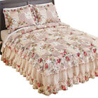 Rose Garden Quilt Style Ruffled Bedspread