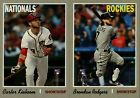 2019 TOPPS HERITAGE HIGH NUMBER ACTION VARIATION SP SINGLES w RC YOU PICK SET