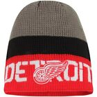 Detroit Red Wings Reebok Center Ice Uncuffed Knit Beanie - Gray/Red