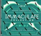 2018 IMMACULATE COLLEGIATE FOOTBALL HOBBY BOX 5 AUTOS OR RELICS