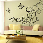 Butterfly Flower Vine Removable Wall Sticker Wallpaper Art Decal Home Room Decor