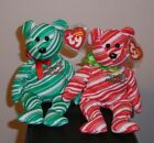 Ty Beanie Baby Set ~ 2007 HOLIDAY TEDDY Bears (Green & Red)(8.5 Inch) MWMT'S