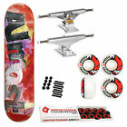 Almost Skateboard Complete Color Bleed Red 825 Indy Spitfire