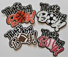 Craftecafe Sports Titles 4 Cards Scrapbook Pages Embellishment Die Cut