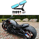 Motorcycle Rectangle Smoke Blue Rearview Side Mirrors For Harley Davidson V Rod
