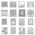 Craft 3D Frame Background Metal Cutting Die Scrapbooking Embossing Paper Cards