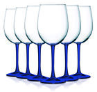 Colorful Accent Stem 19 oz Wine Glasses Set of 6 Available in Vibrant Colors