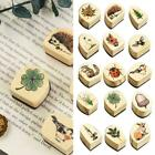 22Style Rubber Wooden Stamps Animal Plants Seal Wax Stamp for Card Making BEST