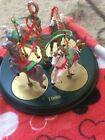 1989 Hallmark Christmas Carousel Horse Decoration All 4 Horses & Removable Base!