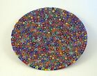 NEW AMAZING MURANO MILLEFIORI THOUSAND FLOWERS PLATE ITALIAN ARTGLASS OF VENICE