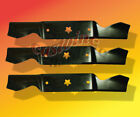 3 Blades For AYP Searsfits 54 Cut Mower with 5 Point Star hole