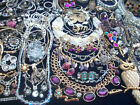 Huge lot of vintage now costume jewelry rhinestones some signed variety nice