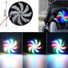 Motorcycle Fire Wheel Lights Flash Lamp Colorful Modified Windmill Strobe Light