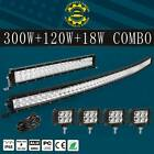 52Inch Curved LED Light Bar+22 inch+4 18W PODS OFFROAD SUV 4WD UTV VS 54 42 20