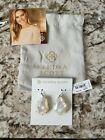 Kendra Scott Rosenell Silver White Mother of Pearl Earrings NWT 70 KS Pouch