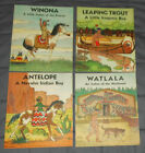1935 Vintage Native American Indian Childrens 4 Book Set Navajo Iroquois USA Lot