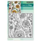 PENNY BLACK RUBBER STAMPS SLAPSTICK CLING FLOWER BOX NEW cling STAMP