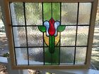 V 126A JY Beautiful Older Stained Glass Window From England Reframed