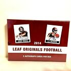 2014 Leaf Originals Football Hobby Box 5 Autos FREESHIP Beckham Carr Evans Mack
