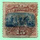 118 Catalog Price 80000 G Grill Early US Stamp Fancy Cancel Faults
