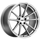 Staggered TSW Bathurst F: 18x8, R: 18x9.5 5x114.3 Silver/Mirror Wheels Rims