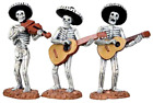 Spooky Town Mariachi Skeleton Band Set of 3 by Lemax Halloween