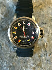 Corum Admiral's Cup Trophy Stainless Steel Black Flag Blue Band Watch