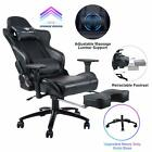 KILLABEE Big and Tall 350lb Massage Memory Foam Gaming Chair Office Chair Black