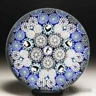 Mike Hunter 2018 millefiori dolphins patterned glass paperweight