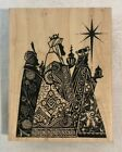 Stampendous Big Block Stamp WISEMEN Wood Rubber Stamp Holiday Nativity Christmas