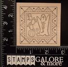 OUTLINES RUBBER STAMPS E757 HALLOWEEN GHOST BOO STARS TRIANGLE FRAME 1215