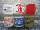Old Retro Milk Glass Coffee Mugs Federal Bowling Atlantic City Flo Cable TV