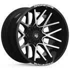 4 Dropstars 654MB 20x12 5x5 5x55 44mm Black Machined Wheels Rims 20 Inch