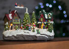 Festive Village Snowy Christmas Scene LED Musical Xmas Decoration Nativity Santa