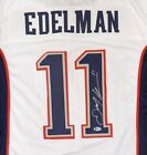 PATRIOTS JULIAN EDELMAN AUTHENTIC AUTOGRAPHED SIGNED WHITE JERSEY BECKETT 147929