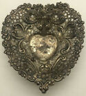 Gorham Sterling Silver Pierced Heart Shaped Trinket Candy Nut Dish 956 375 28g